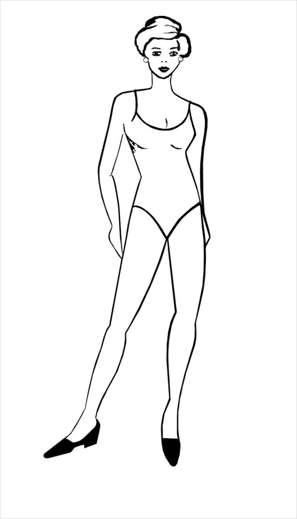 Medical Human Body Outline Drawing