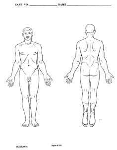 medical human body outline drawing at getdrawings free for Body Outline Printable 236x302 picture of the human outline of human body front and back outline