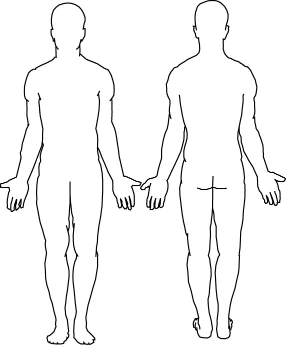 Medical Human Body Outline Drawing At GetDrawings