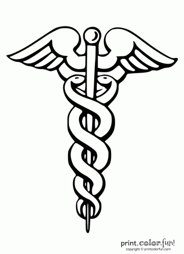 363x500 Printable Caduceus {Via Printcolorfun} Doctor Appreciation Day