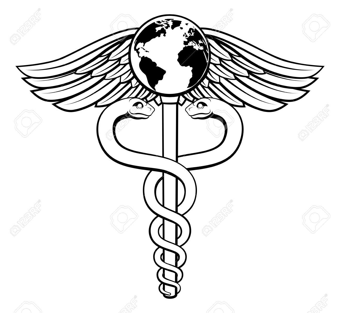 1300x1200 A Caduceus Medical Symbol Concept Of A Medical Or Hearth Care