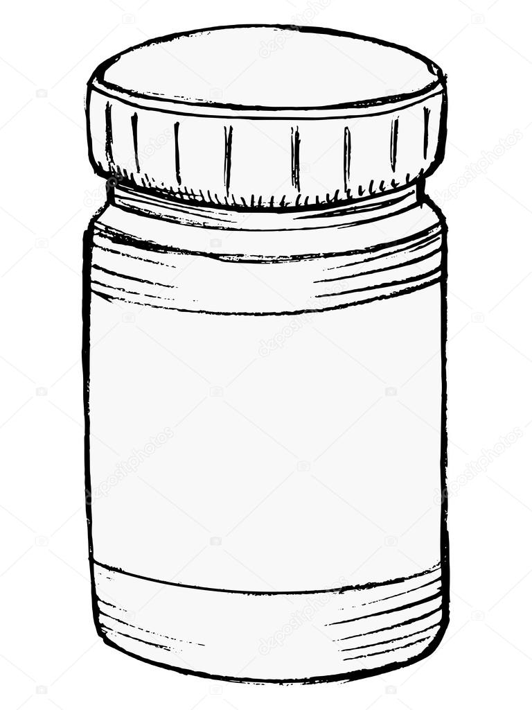768x1024 Bottle Of Medicine Stock Vector Perysty