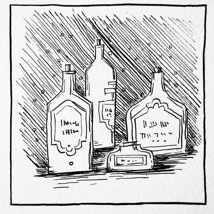 Medicine Bottle Drawing