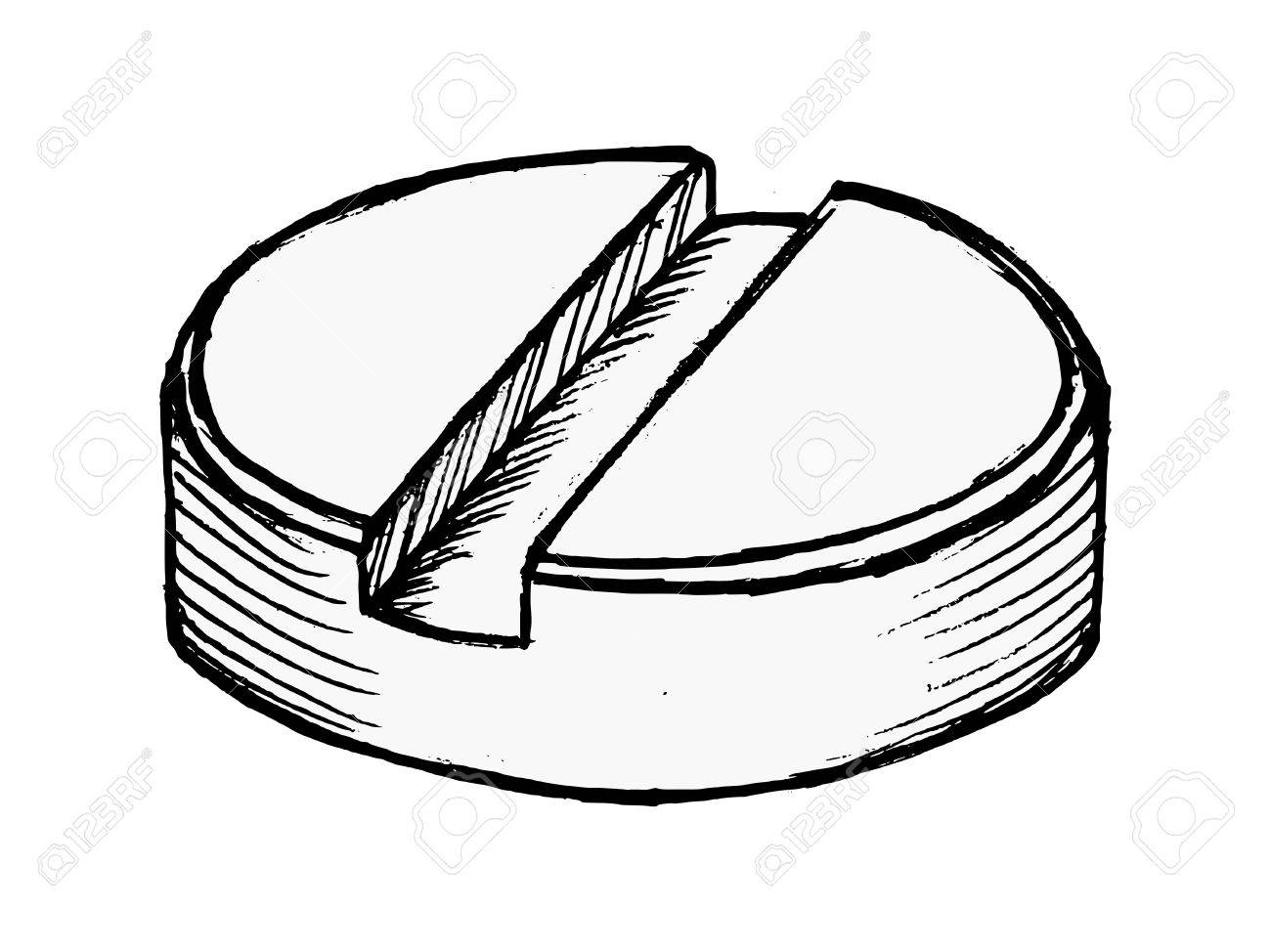 1300x974 Hand Drawing Vector Illustration Of A Pill On White Royalty Free