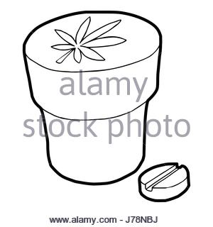 300x320 Medical Marijuana Icon, Outline Style Stock Vector Art