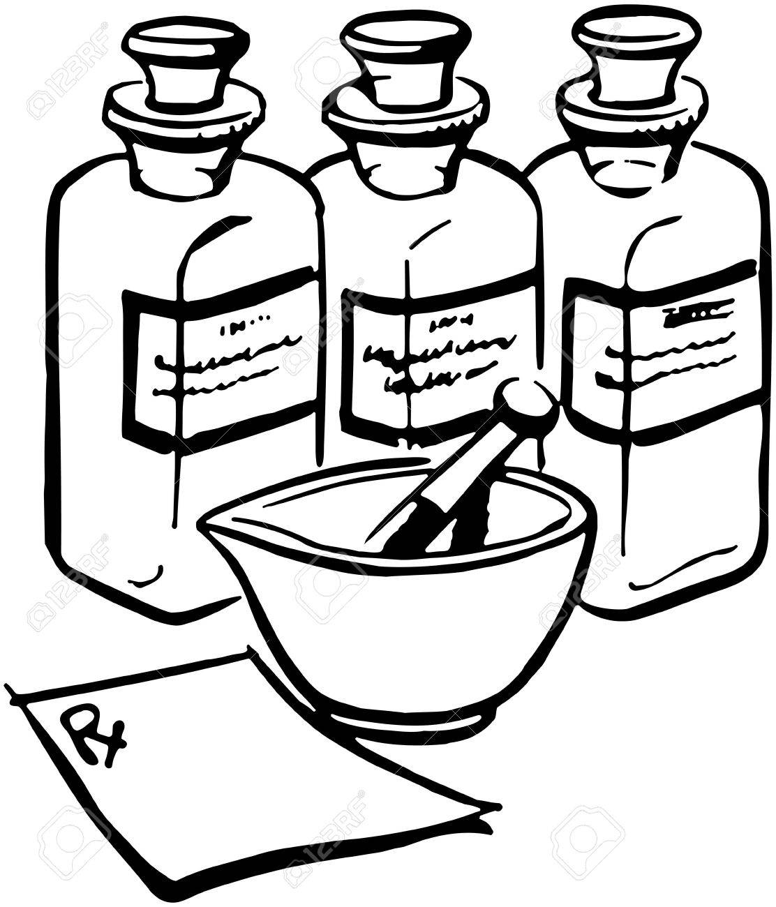 1112x1300 Medicine Bottles Royalty Free Cliparts, Vectors, And Stock