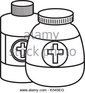 300x328 Medicine Bottles Isolated Icon Vector Illustration Graphic Design