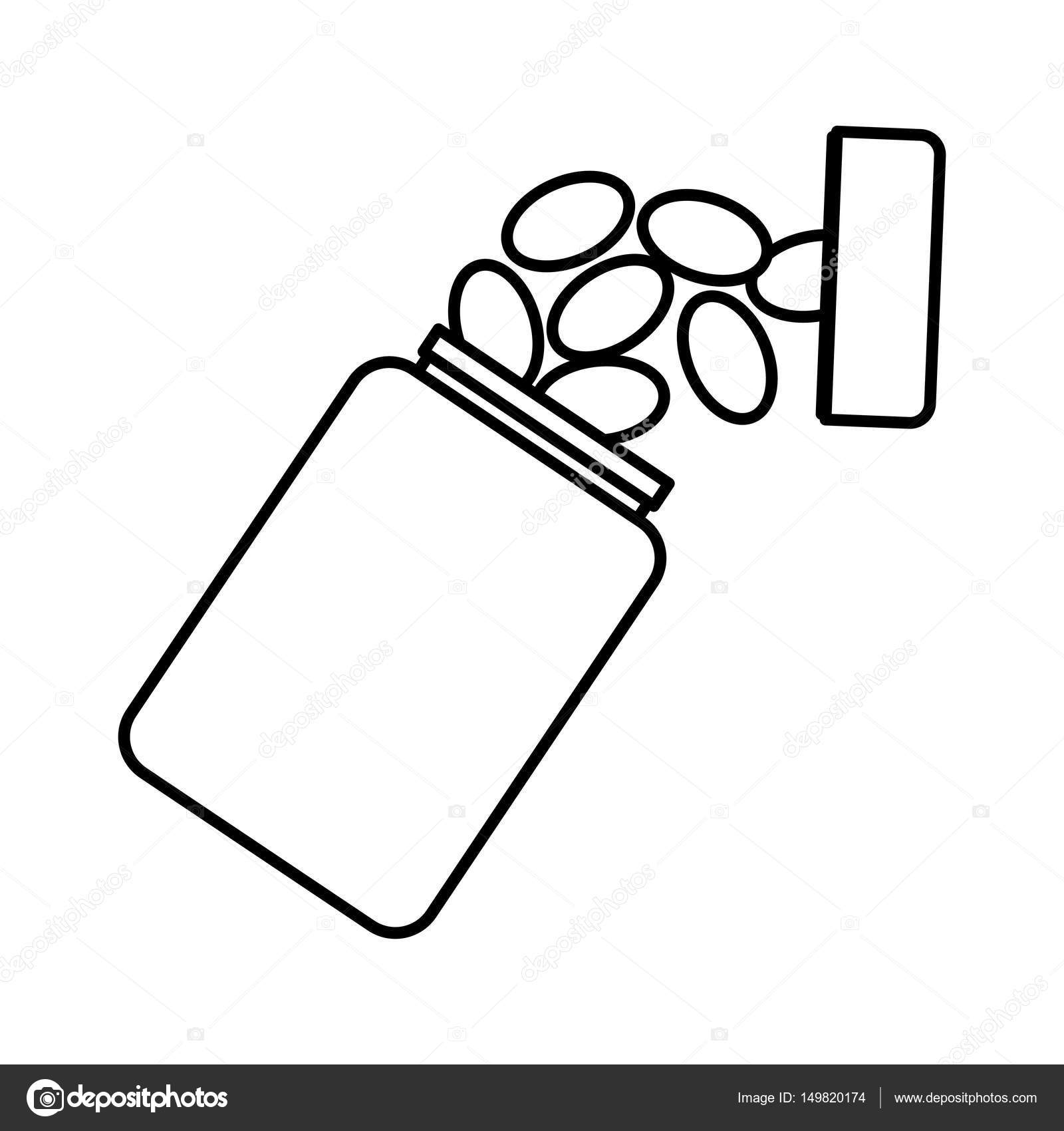 1600x1700 Medicine Bottle Isolated Icon Stock Vector Yupiramos