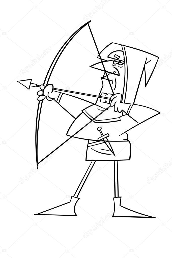 682x1023 Arqueiro Medieval Vetores De Stock Upitokvlasov
