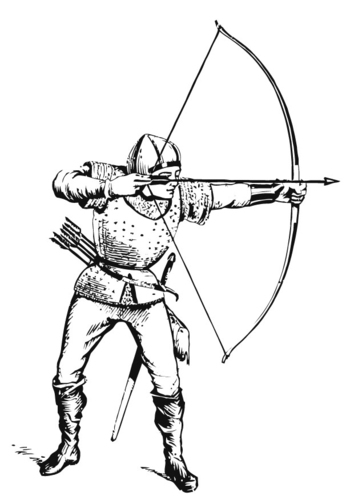 354x500 Free Medieval Coloring Page The Archer, Medieval Soldiers
