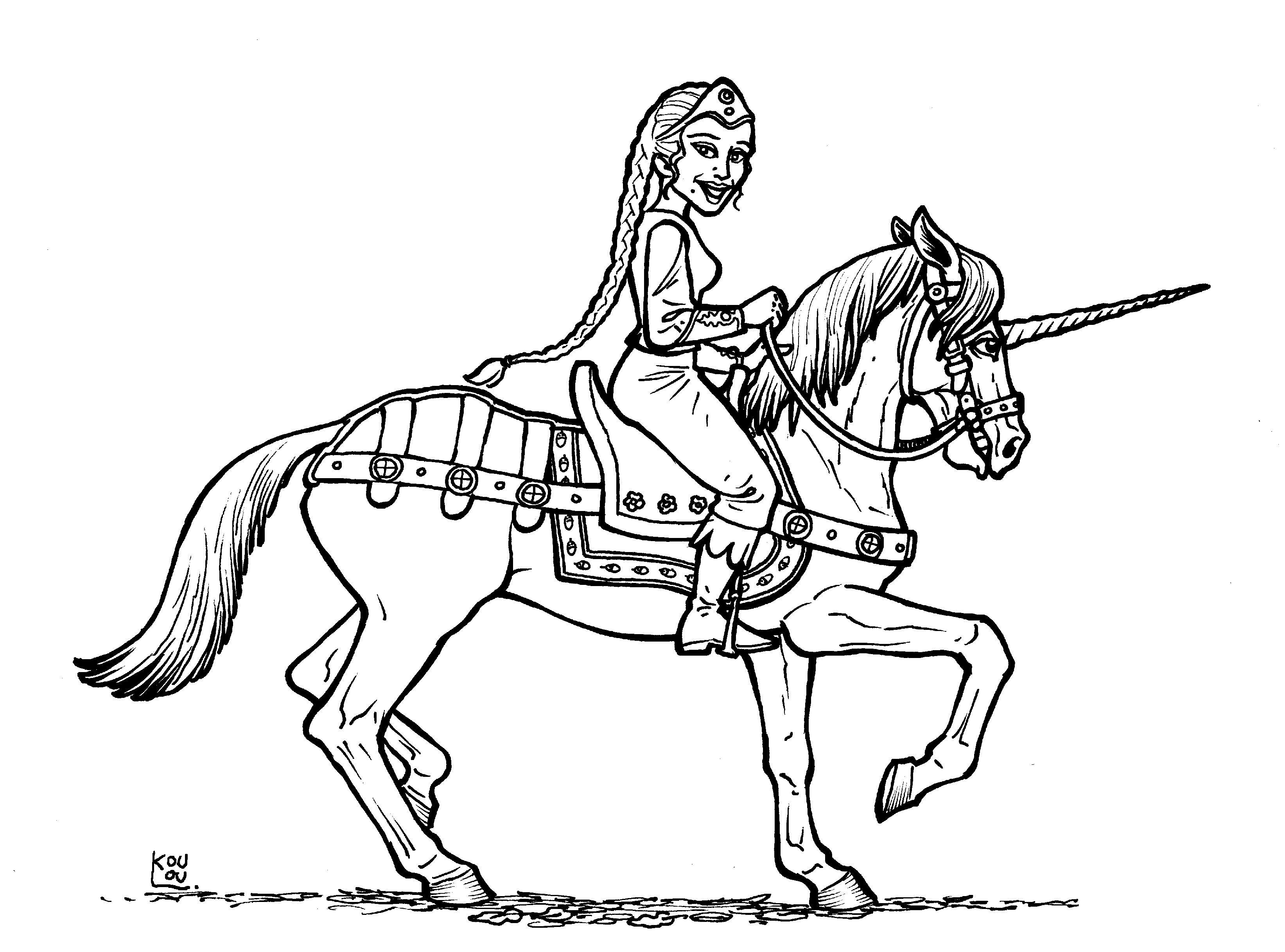 3286x2435 Medieval Archer Coloring Pages