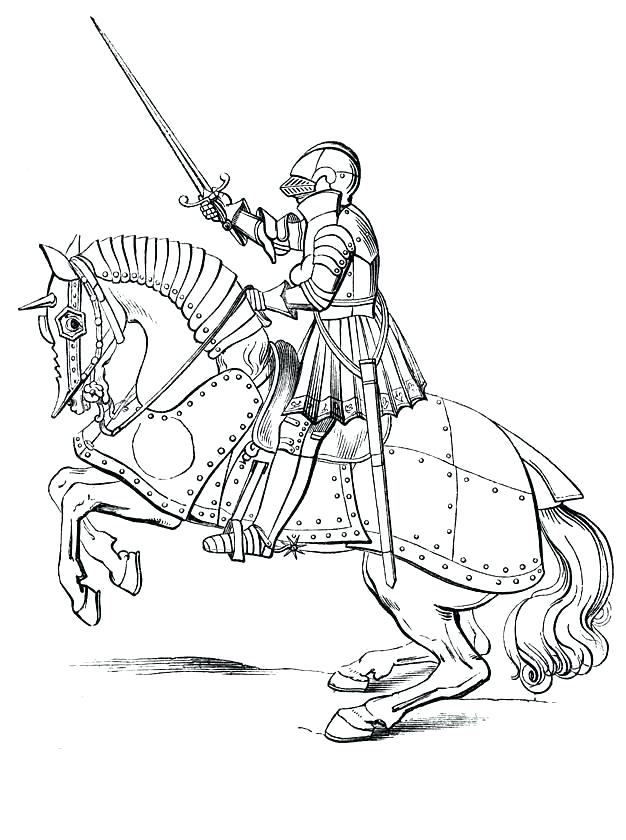 626x840 Medieval Coloring Pages Castle Knight Coloring Page Coloring Page