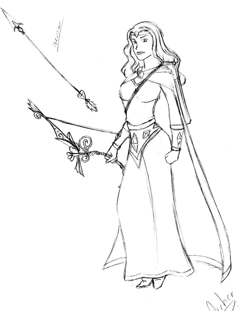 787x1016 The Archer Sketch By Sianalaurie