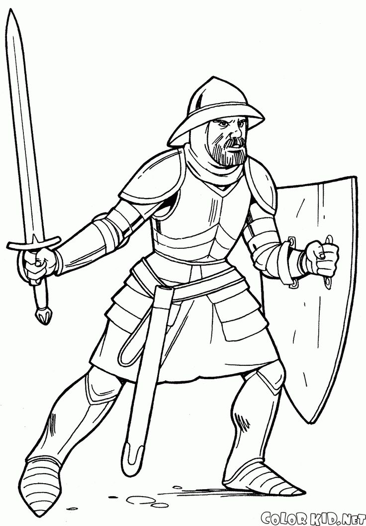 Medieval Armor Drawing