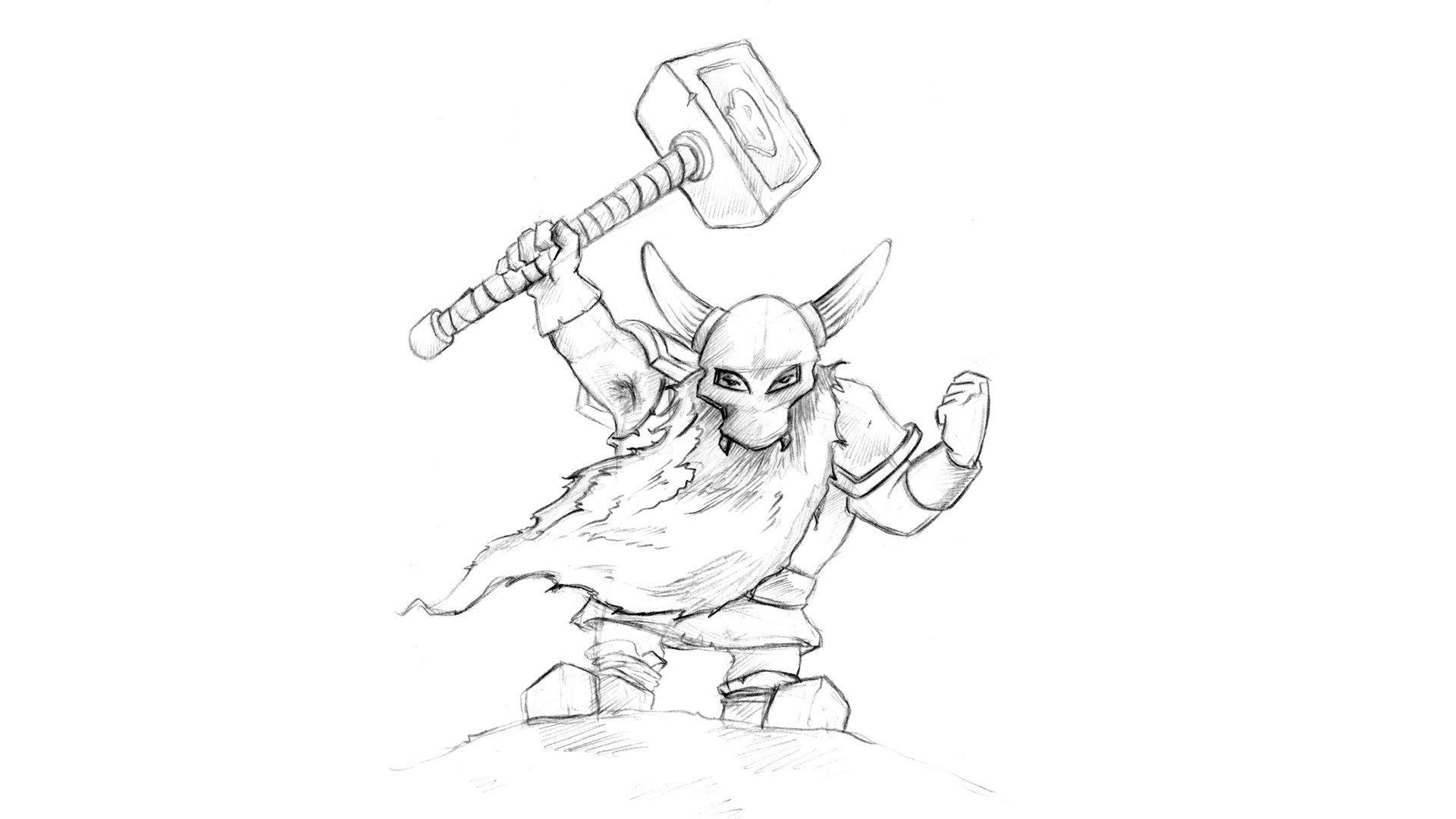 1920x1080 How To Draw A Dwarf Warrior