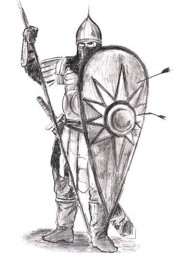 400x549 Russian Medieval Warrior By Xxandriuchaxx