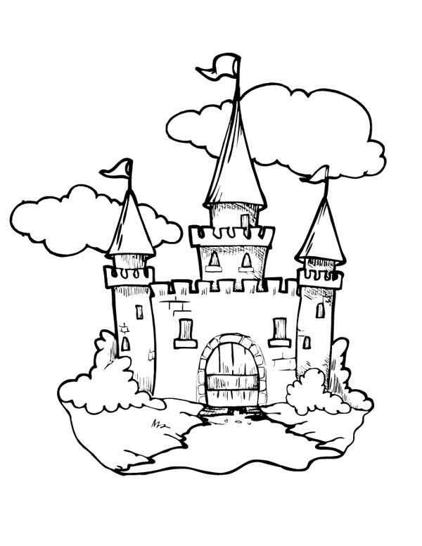 600x776 Castle Knights Coloring Pages
