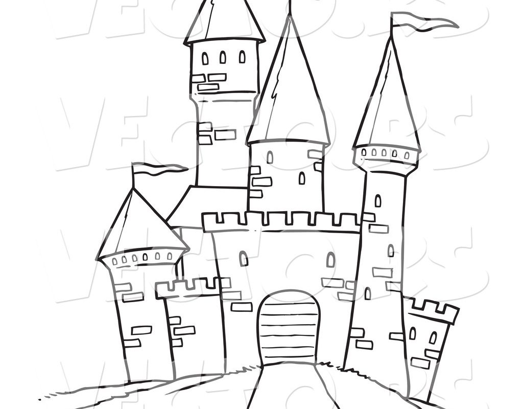 1024x800 Coloring Page Of Castle Many Interesting Wonderful Castles