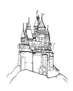 236x295 Castle Draw Bridge Packaging Castle Drawing
