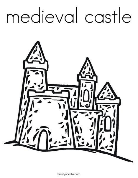 468x605 Medieval Castle Coloring Page