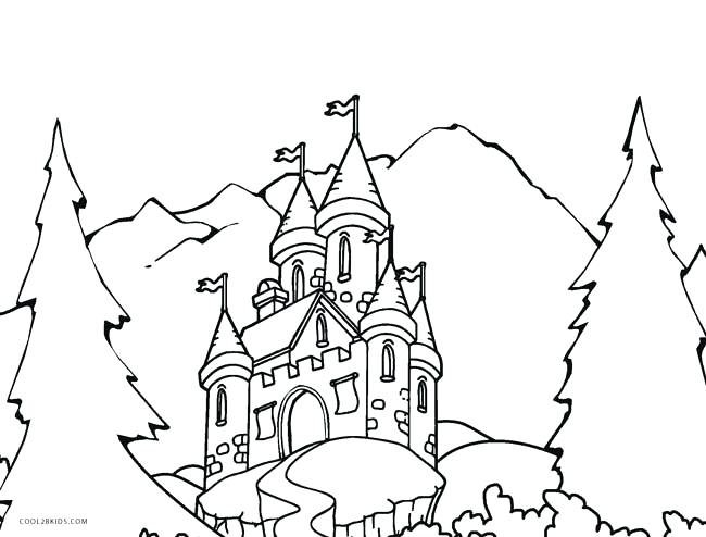 650x494 Castle Coloring Medieval Castle Coloring Pages Frozen Castle