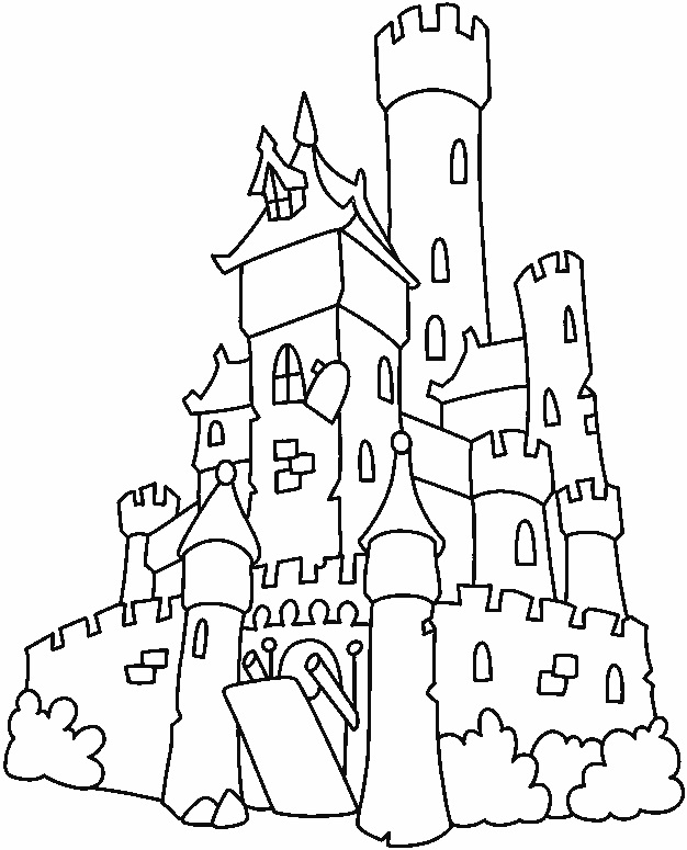 626x775 Castle Drawings To Color Medieval Drawing