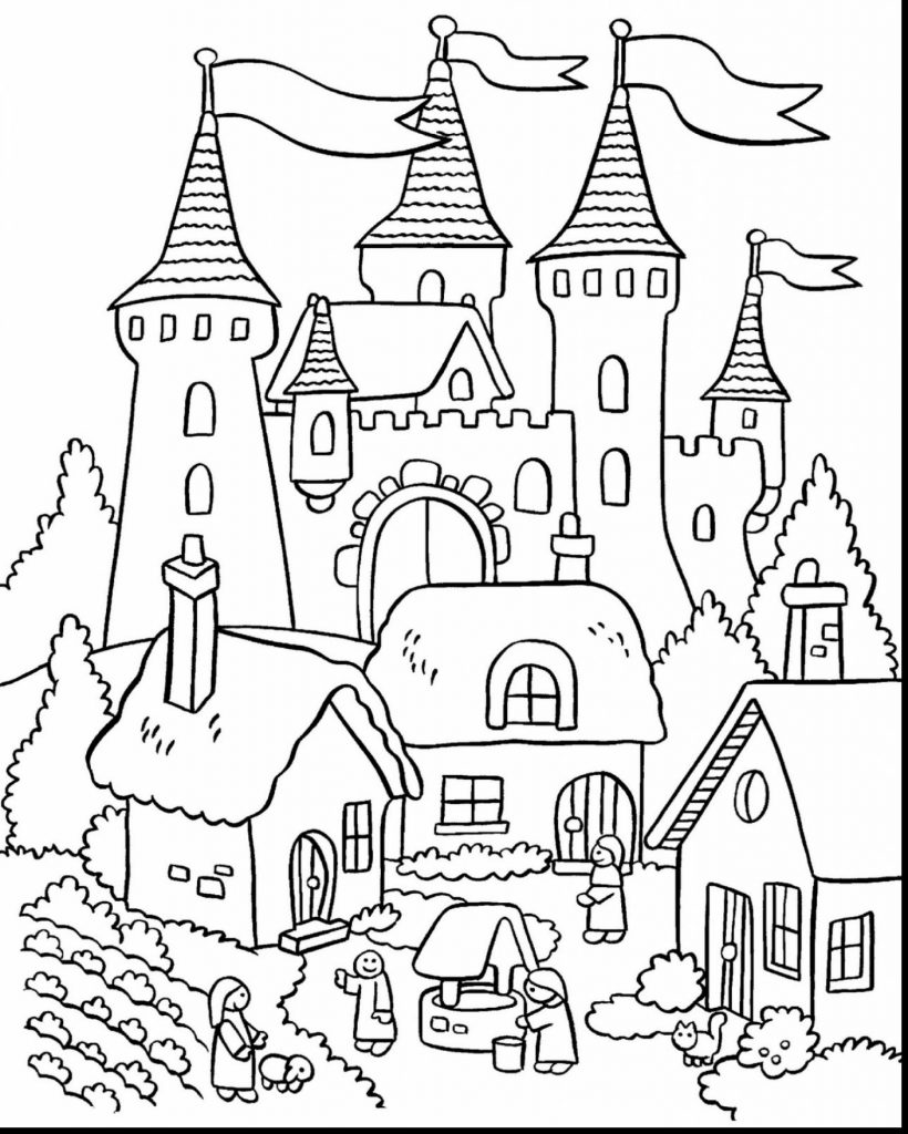 820x1024 Cinderella Castle Coloring Page Look Real Free Pages Printable