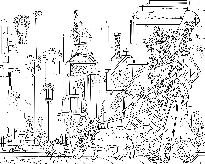 6000x4800 Coloring Architecture Coloring Book Photo Ideas Medieval Castle