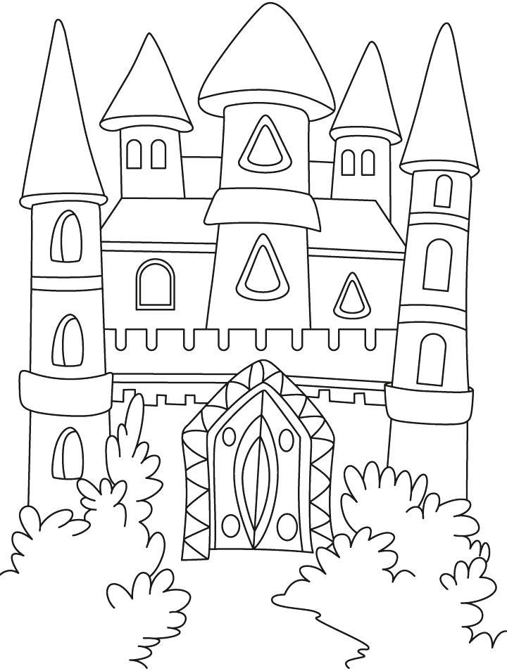 720x954 Coloring Castles Castle Castle Castle Coloring Pages Pdf