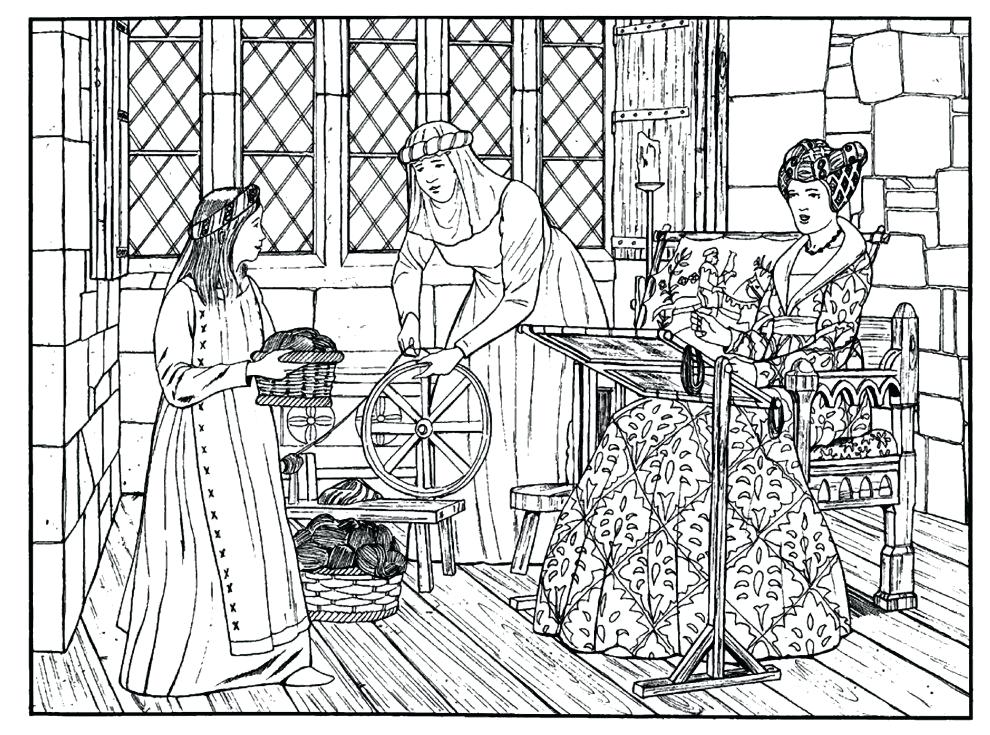 990x735 Medieval Coloring Pages Medieval Castle Coloring Pages Coloring