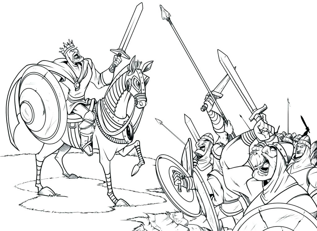 1024x745 Medieval Coloring Pages Packed With Knights And Castles Coloring