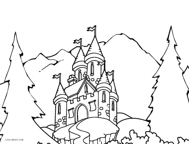 650x494 Printable Castle Coloring Pages For Kids Cool2bkids