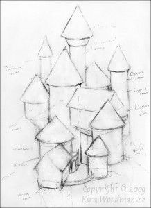 218x300 Romantic Medieval Castle Drawings Made Easy. Learn How To Draw