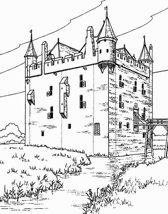 590x750 Castles 05 Castles Coloring Pages For Teens And Adults Coloring