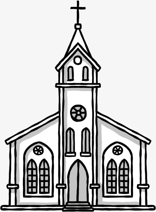 525x715 Hand Painted Church, Hand Painted, Church, Christian Png Image