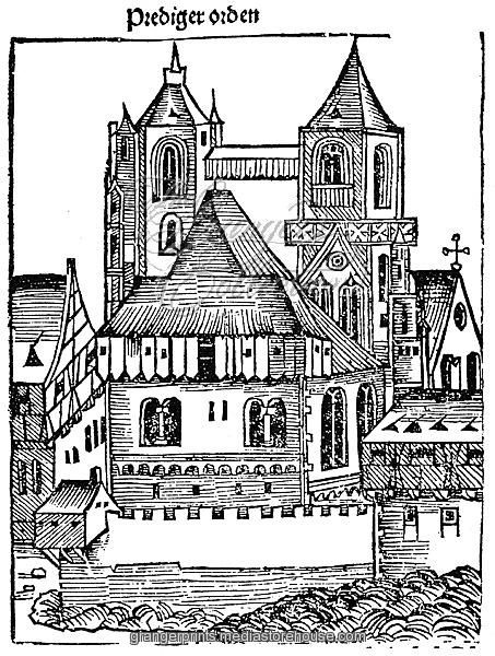 453x600 Medieval Church. Woodcut From The Nuremberg Chronicle, 1493