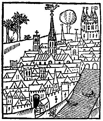 355x417 Medieval Woodcuts Clipart Collection 4 View Of A Town From