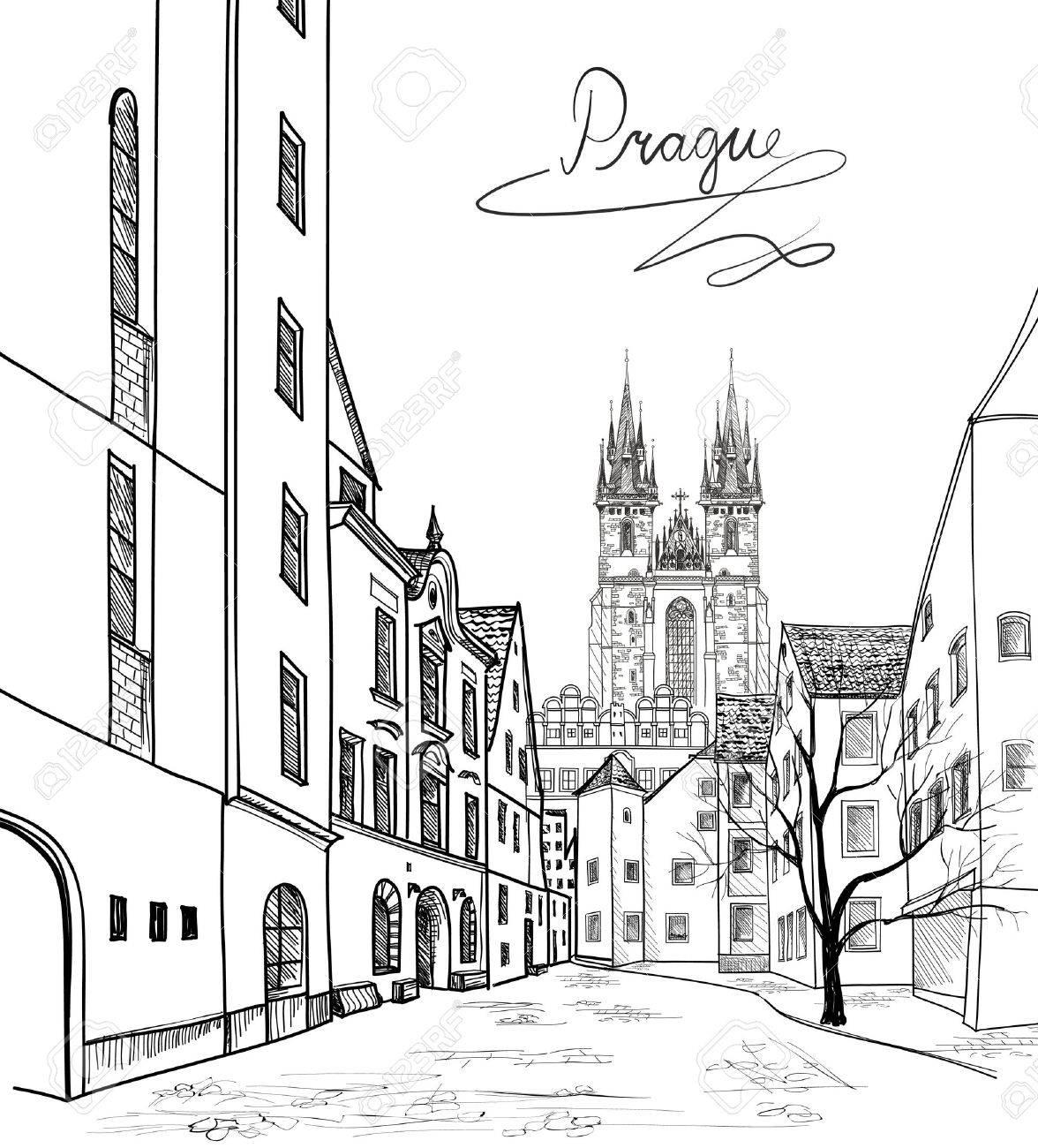 1176x1300 Old Town Of Prague, Czech Republic. Pedestrian Street In
