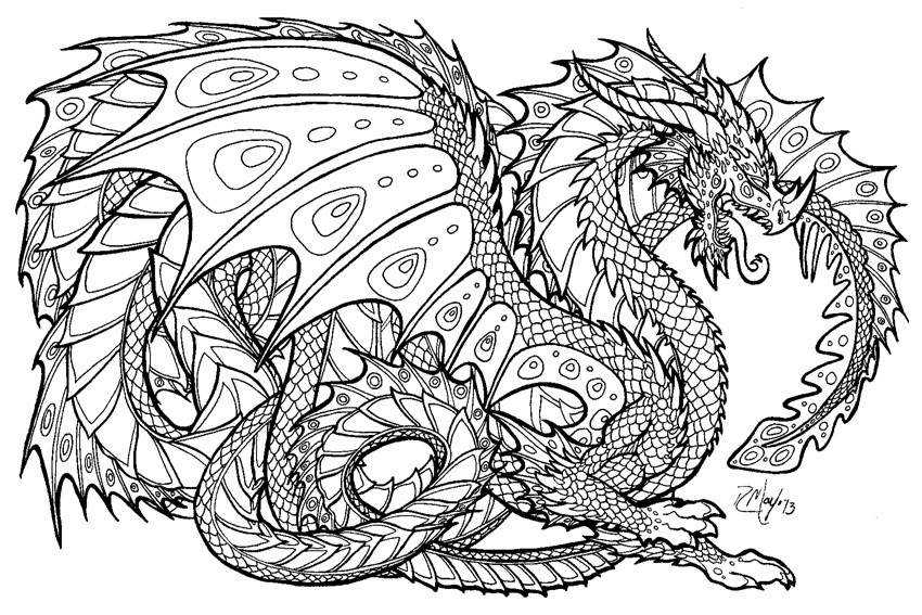 850x567 Dragon Art Coloring Pages To Draw A Flying Dragon In Flight Step