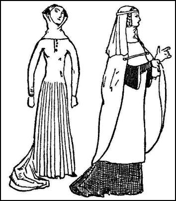 Medieval Dress Drawing