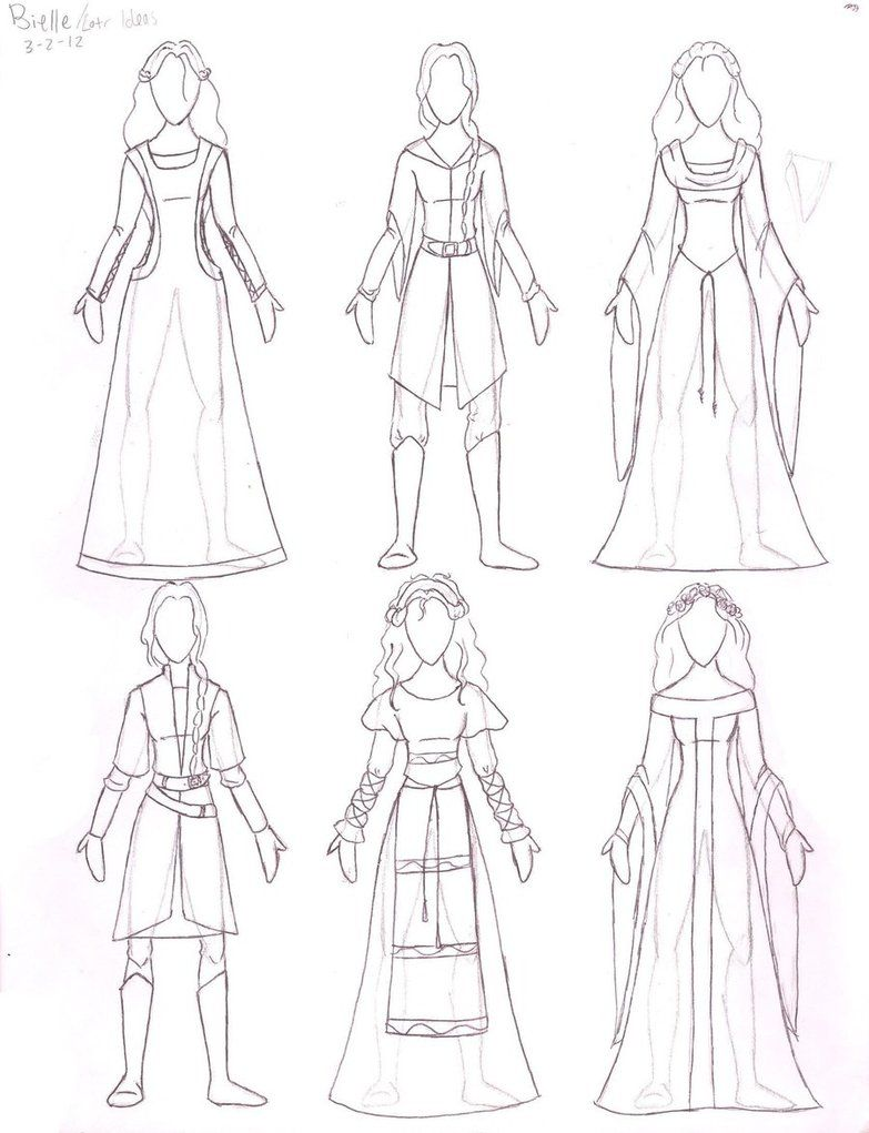 Medieval Dress Drawing At Getdrawingscom Free For Personal Use