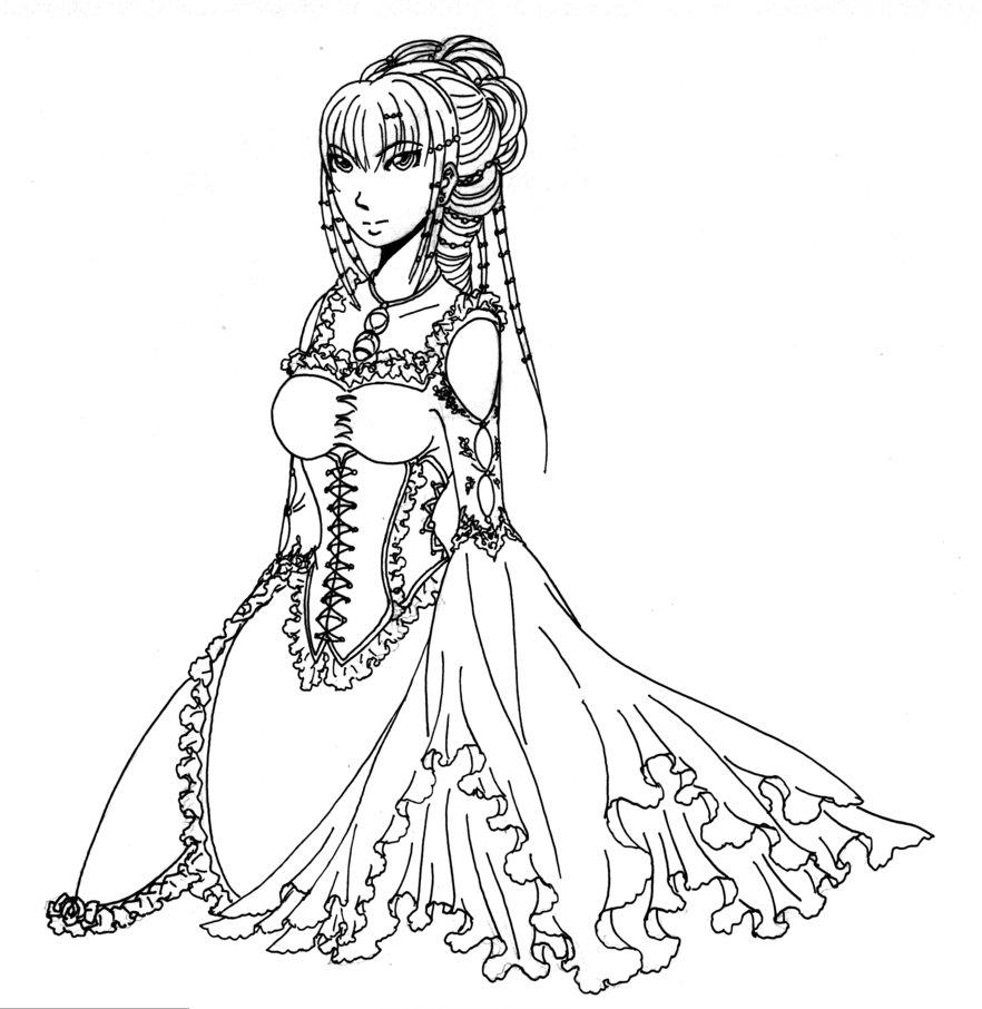882x906 Medieval Noblewoman, Portrait By Shinodari