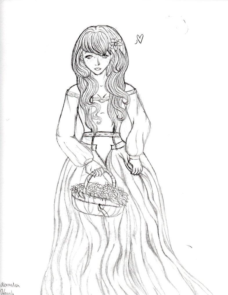 786x1017 Medieval Dress By Blackkittykat12