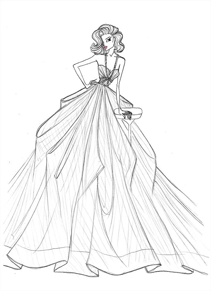 700x963 26 Lastest Women Dresses Drawing