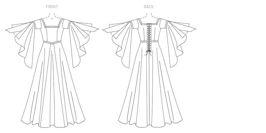 850x426 Historical Medieval Dress Pattern Butterick B4571 Sewing Pattern
