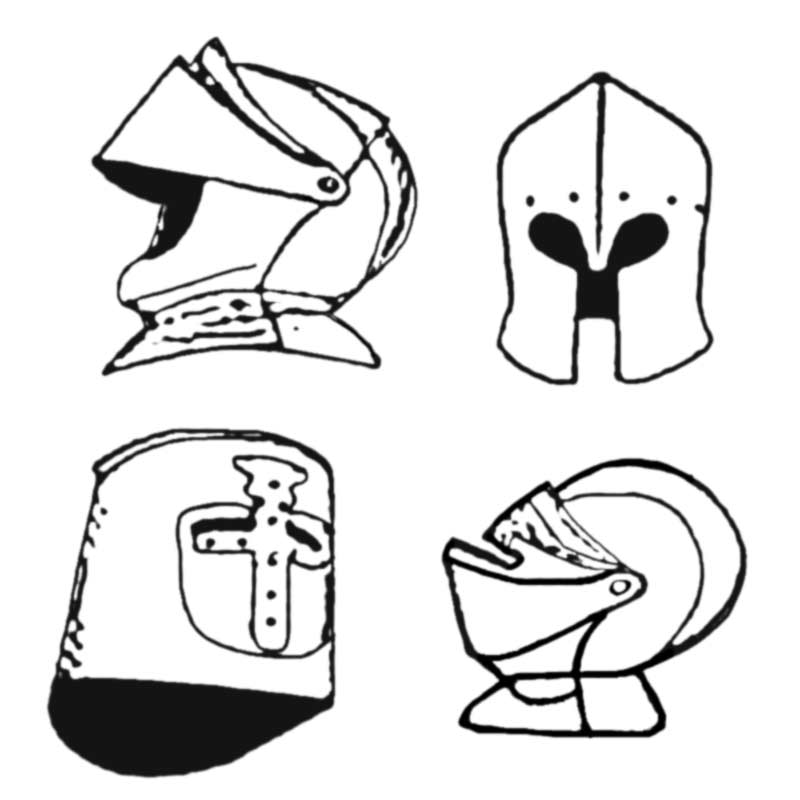 Knight Helmet Printable Template- Aktif Elektronik