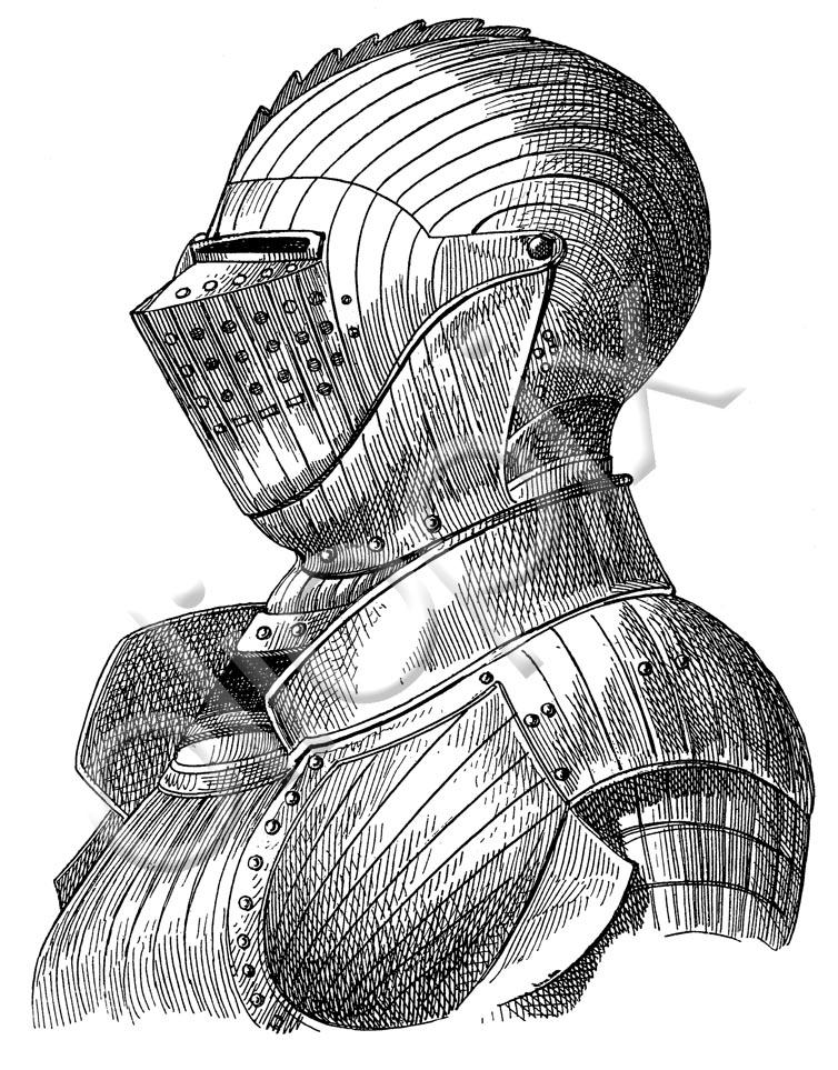 754x963 Medieval Armour, Helmets, Gloves, Monochrome, Black And White