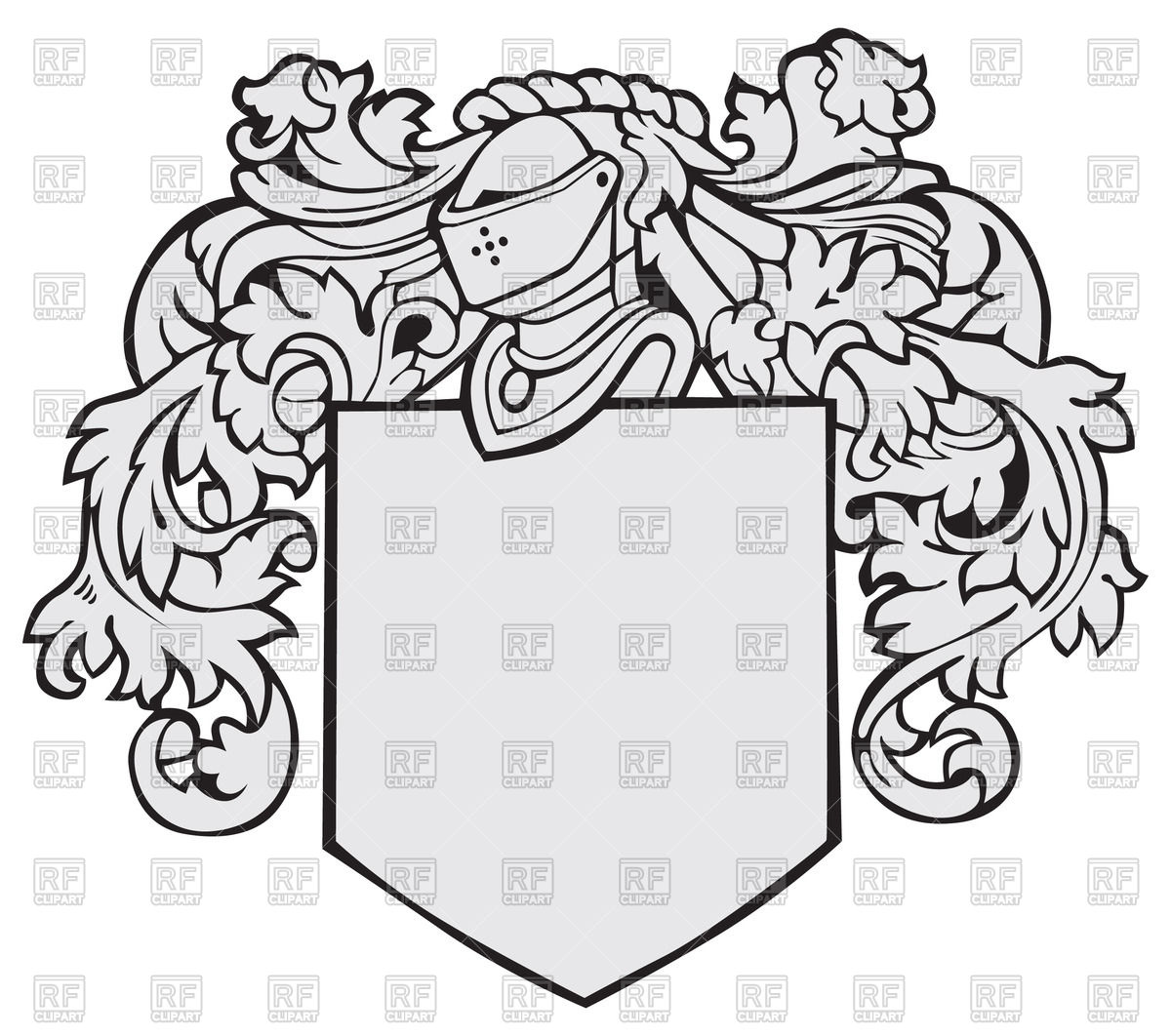 1200x1062 Template Of Medieval Heraldic Emblem