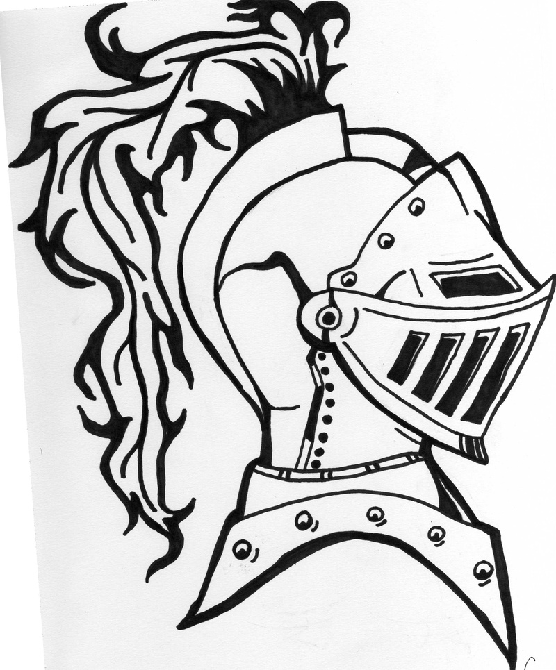 800x965 Armored Knight Tattoo Design Ink Drawing By Eric Lamont Norris