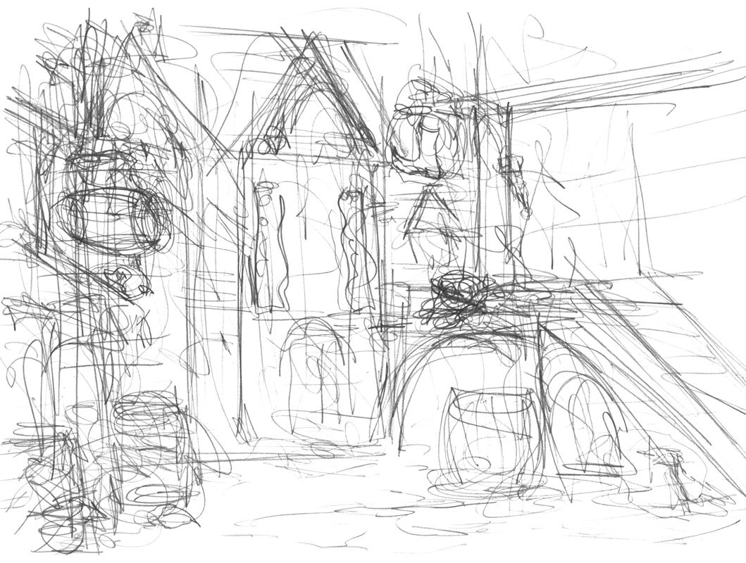 1059x800 Grim Dream Art Medieval Town